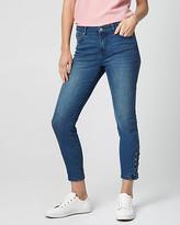 Le Château Stretch Denim Lace-Up Side Skinny Pant