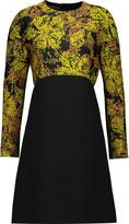 Giambattista Valli Paneled jacquard and wool dress
