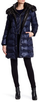 Andrew Marc Skylar Quilted Down Genuine Fox Fur Trim Hood Jacket