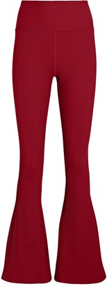YEAR OF OURS Flared Rib Knit Leggings