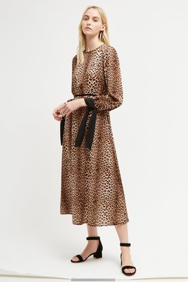 French Connection Animal Print Slinky Dress
