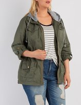 Charlotte Russe Plus Size Removable Hood Anorak Jacket