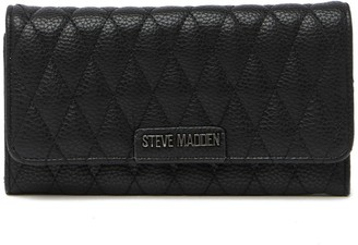 Steve Madden Quilted Tri-Fold Wallet