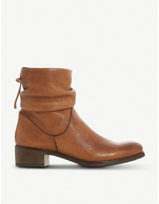 Dune Pagerss slouched leather ankle boots