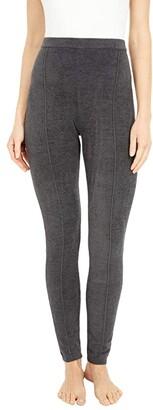 Barefoot Dreams CozyChic Ultra Lite(r) Seamed Leggings (Carbon) Women's Casual Pants