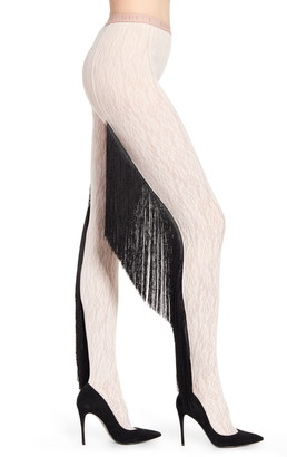 Gucci Fringe Floral Lace Tights