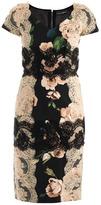 Dolce & Gabbana Rose-print lace panel dress