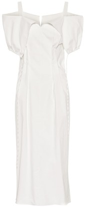 Jil Sander Cotton-blend dress