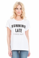 Local Celebrity Running Late Schiffer Tee in White