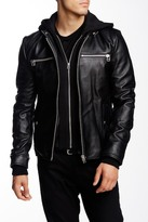 7 Diamonds Norton Hooded Genuine Leather Jacket