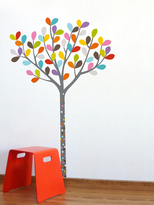 Colors in the Woods Removable Wall Decal