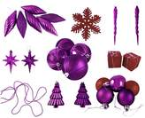 Ball Shatterproof Purple & Red Christmas Ornament 125-piece Set