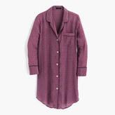 J.Crew Silk nightshirt in jewel dot print