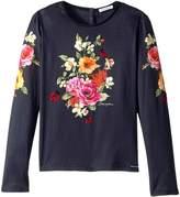 Dolce & Gabbana Back to School Floral Long Sleeve T-Shirt Girl's T Shirt