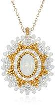 Miguel Ases Opalite Quartz Pendant Necklace, 18''+3.5'' Extender