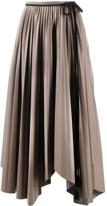Nanushka Asymmetric Pleated Skirt