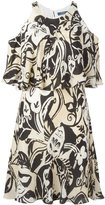 Polo Ralph Lauren cut-out detail ruffled dress - women - Silk/Polyester - 6