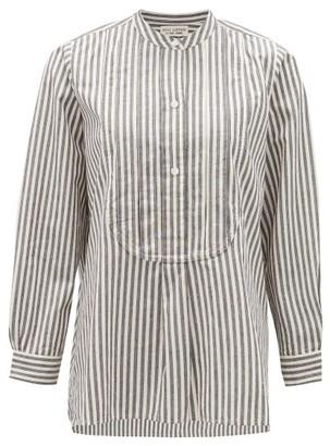 Nili Lotan Clemon Striped Cotton Shirt - Womens - White Black