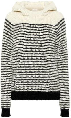 Saint Laurent Striped wool-blend hoodie