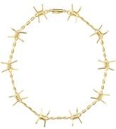 Natasha Zinko Barbed Wire 18kt Silver Necklace With Diamonds