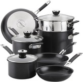 Anolon SmartStack Hard-Anodized Nesting Cookware Set, 10-Piece, Black