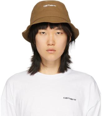 Carhartt Work In Progress Brown Script Bucket Hat