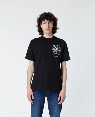 The Kooples David Bowie printed black T-shirt in cotton