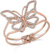 Thalia Sodi Rose Gold-Tone Pavé Butterfly Hinged Bracelet, Created for Macy's