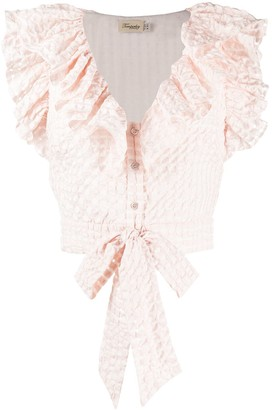 Temperley London Tamara ruffled seersucker shirt