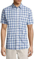 Lee Short Sleeve Checked Button-Front Shirt