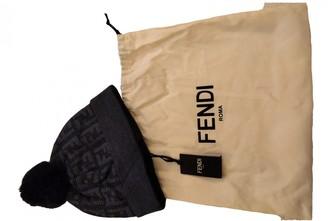 Fendi Navy Wool Hats