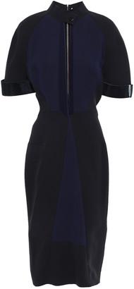 Victoria Beckham Cutout Metallic-trimmed Silk And Wool-blend Dress