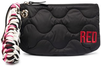 Red(V) Logo-Embroidered Quilted Clutch Bag