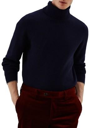 Brunello Cucinelli Wool, Cashmere & Silk Turtleneck Sweater