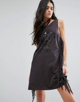 Superdry Boho Eagle Logo Dress With Side Fringe