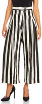 Barbara I Gongini Stripe Linen Wide Leg Pants