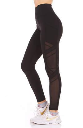 Therapy Side Pocket Mesh-Insert Leggings