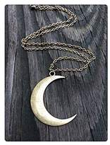 Ping Brass Crescent Moon Necklace Brass Crescent Moon Pendant
