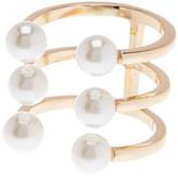 Rebecca Minkoff Faux Pearl Wrap Ring - Size 7