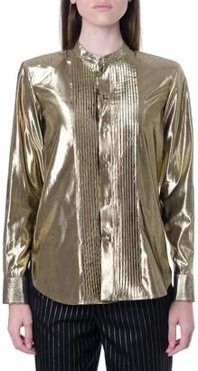 Saint Laurent Gold Metallic Effect Shirt