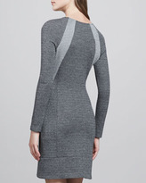 Theory Chayenne Two-Tone Front-Zip Dress