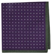 Ted Baker Men's Paisley Dot Double Sided Wool Pocket Square
