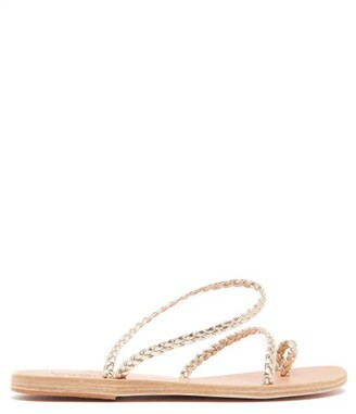 Ancient Greek Sandals Eleftheria Braided Leather Sandals - Womens - Gold