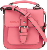 Armani Jeans bucked closure crossbody bag - women - Polyurethane - One Size