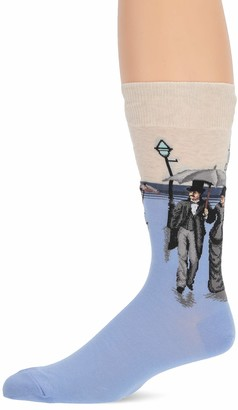 Hot Sox mens Conversation Starter Novelty Crew Casual Sock