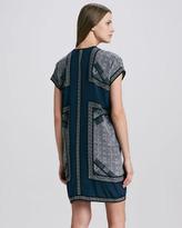 Vince Scarf-Print Tunic Dress