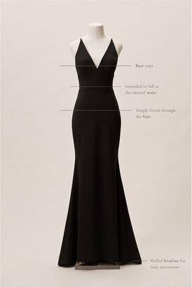 BHLDN Jones V-Neck Crepe Dress