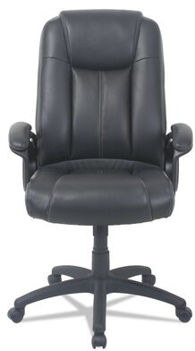 Otwell High-Back Genuine Leather Executive Chair Symple Stuff