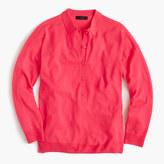 J.Crew Featherweight merino wool long-sleeve polo shirt