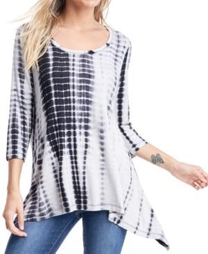 Fever Tie Dye 3/4 Sleeve T-Shirt